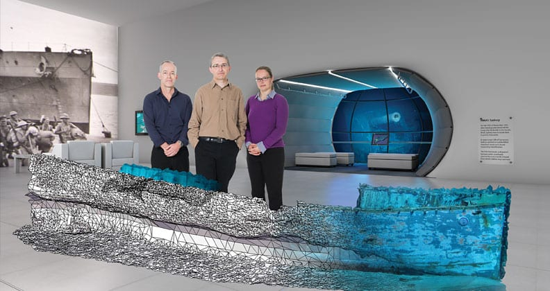 Dr Andrew Hutchison; Andrew Woods; and Dr Petra Helmholz