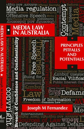 Media Law in Australia book front cover
