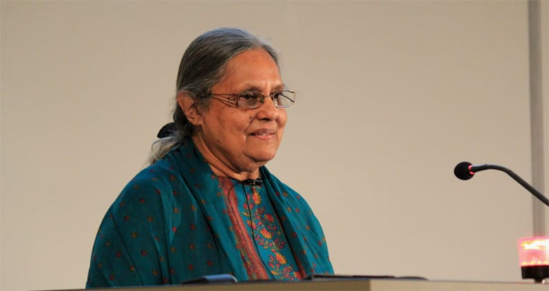 Image from 'Gandhi's grandaughter remembers Mandela at Curtin University, Perth Australia'