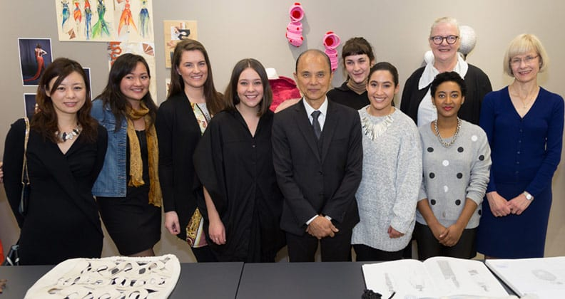 Curtin Fashion students meet icon Jimmy Choo