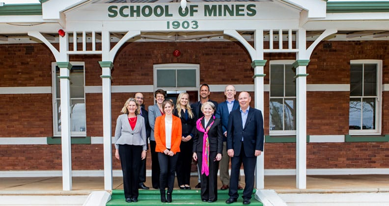 The members of the Curtin Council outside WASM
