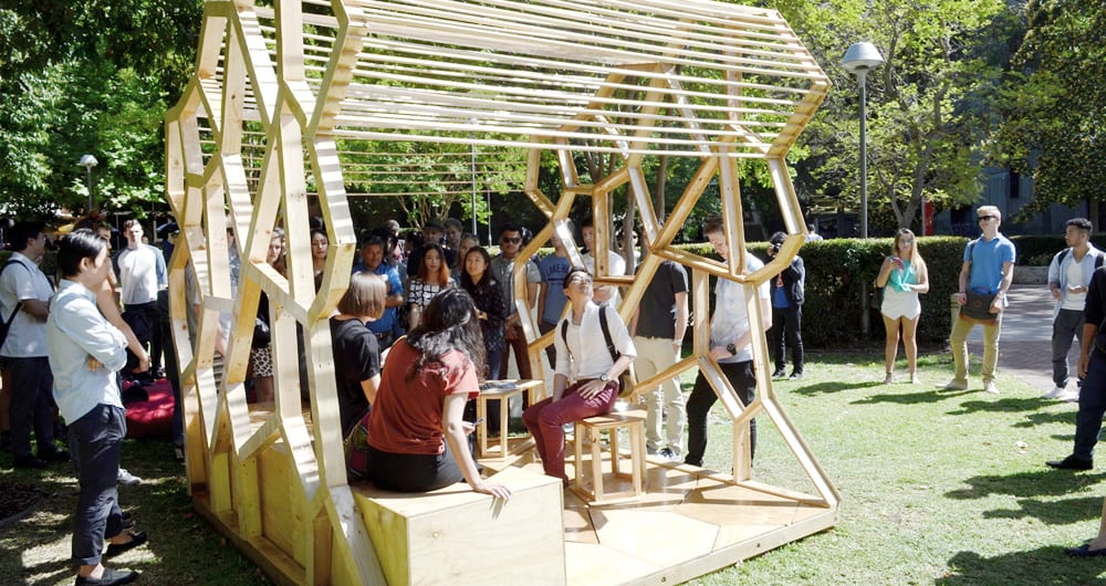 Architecture students liven up campus with eco-friendly reading rooms