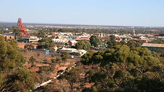 A view of Kalgoorlie
