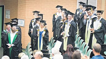 Some of the graduates from the latest round of WASM graduations