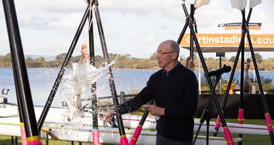 Clontarf students row ahead with Curtin's new boats