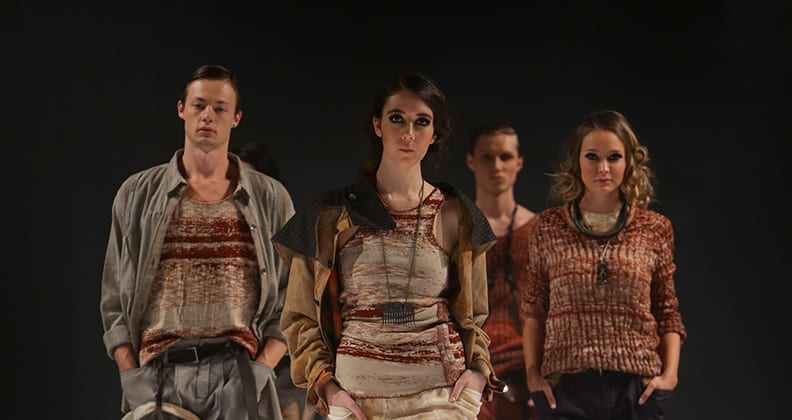 Models wearing clothes from Cordelia Gibbs's collection.