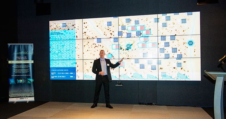 Professor Steven Tingay presenting at the Cisco Internet of Everything Innovation Centre launch