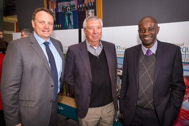 Director Energy Research Initiative Tim Walton, Deputy Director School of Chemical and Petroleum Engineering Brian Kinsella, Acting Pro Vice-Chancellor Science and Engineering Moses Tade.