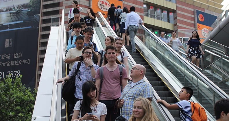 Curtin photojournalism students arriving at Shanghai