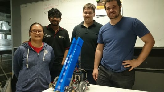 Transport and roll-out: Curtin robot to compete in live knockout finals
