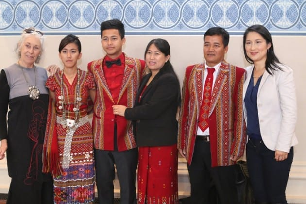 Co-producer Chris Gosfield with the Ni Chin family and producer, Dr Marilyn Metta.