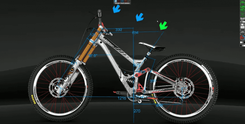 The 3D Bike Configurator interface.