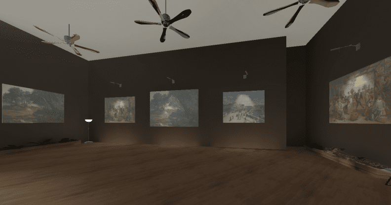 The virtual reality construction of the John Curtin Art Gallery.
