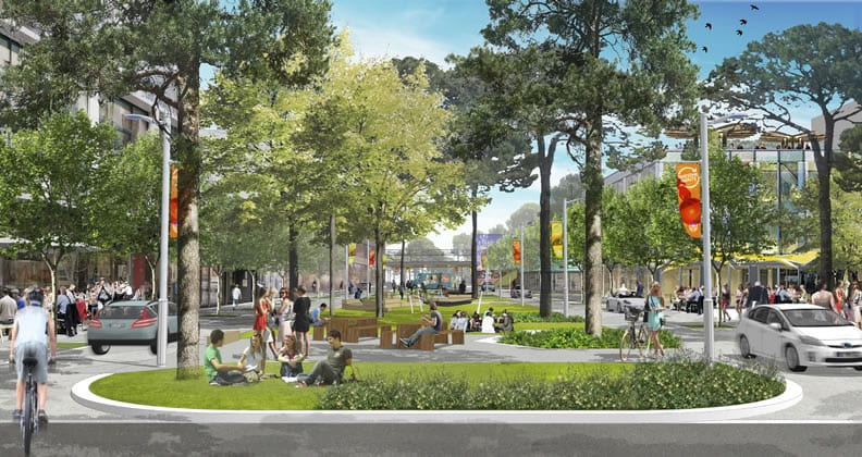 Artist's impression of the Main Street project.