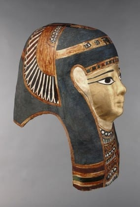 Ancient Egyptian mask showing Egyptian blue pigment. Image courtesy of the Indianapolis Museum of Art.