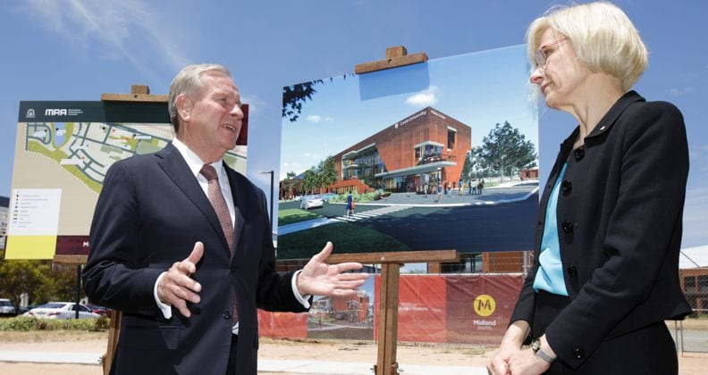 Curtin Vice-Chancellor Professor Deborah Terry and Premier Hon. Colin Barnett