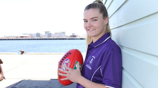Kicking goals for historic AFL Women's