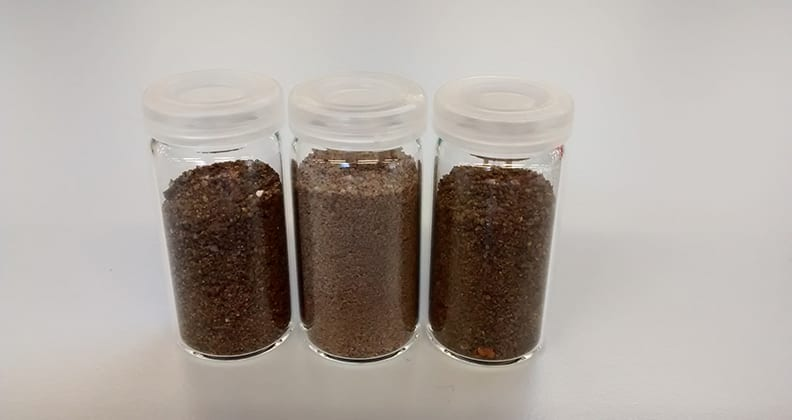 Three different soil samples