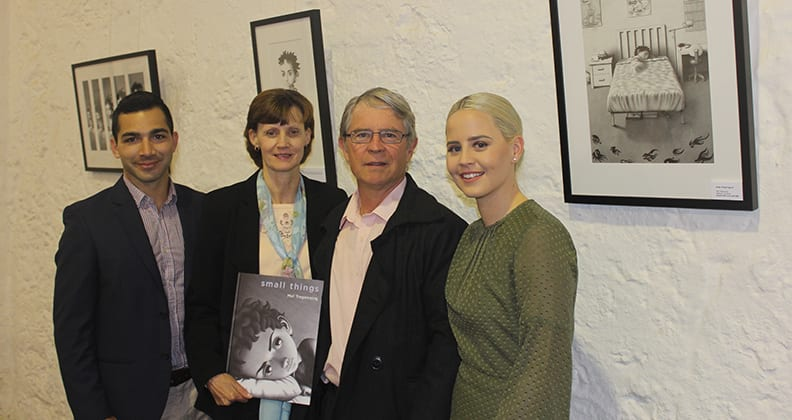 Violet with her parents and husband at the launch of Small Things in September 2016.