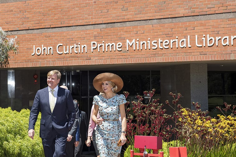 Their Majesties King Willem-Alexander and Queen Máxima of The Netherlands on campus
