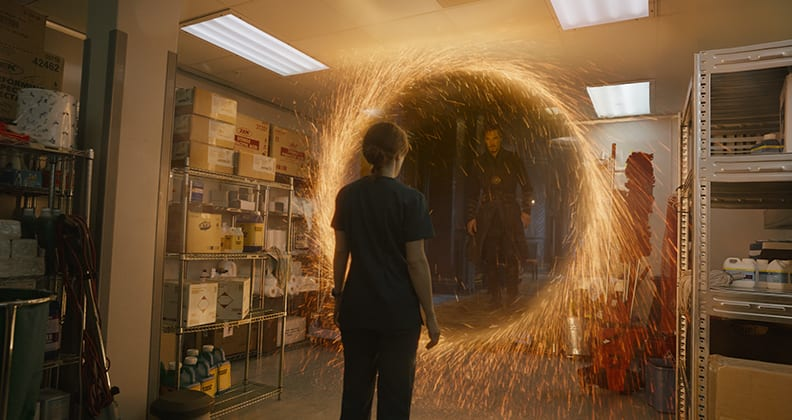 For an exta special effect, just add Benedict Cumberbatch. Credit: Framestore and Marvel