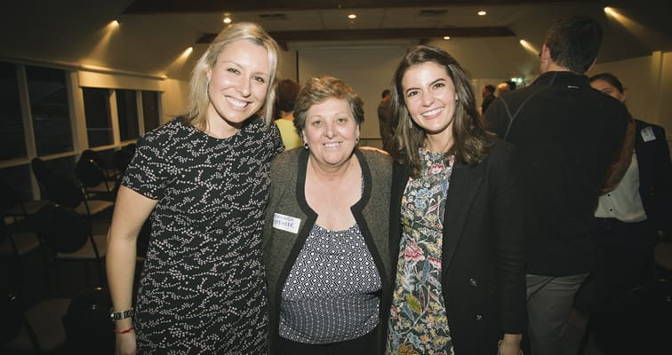 Vanessa Rauland (Curtin and SimplyCarbon), Rhonda Spencer (Principal of Samson Primary) and Portia Odell (Curtin PhD Student)