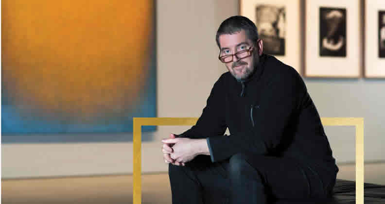 Chris Malcolm in the John Curtin Gallery