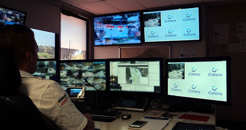 Curtin security control room with iCetana software.