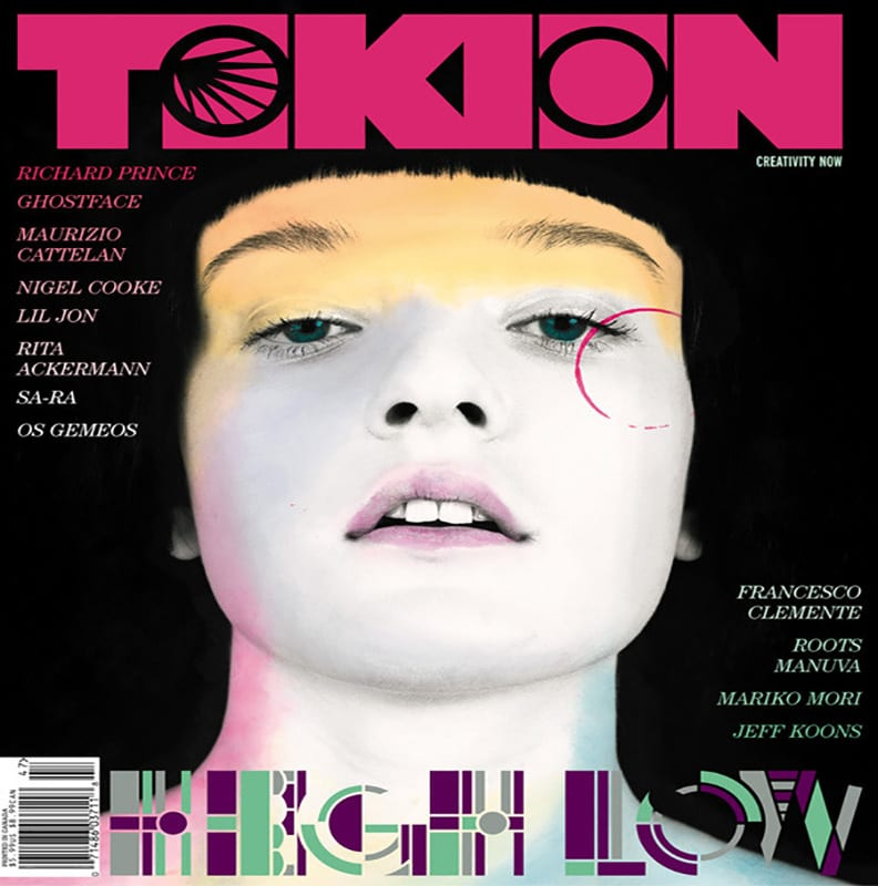 Stylised cover of Tokion magazine.