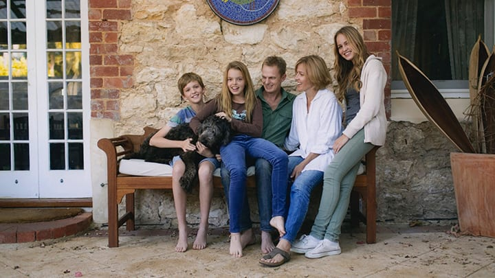 Dr Dawson Cooke and his family.