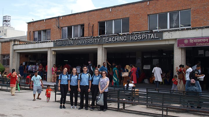 Physiotherapy students in Nepal