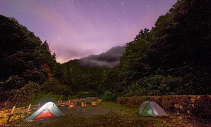 Tents in the Hida Mountains