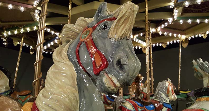 Horse from a merry-go-round