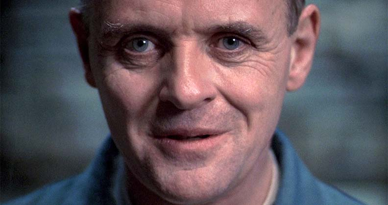Image of fictional character Hannibal, from the movie Silence of the Lambs.