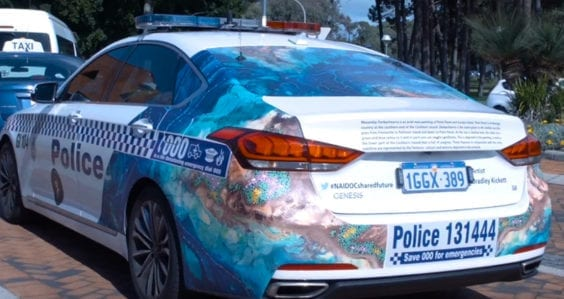 Bradley's breathtaking artwork featured on police uniforms and vehicles