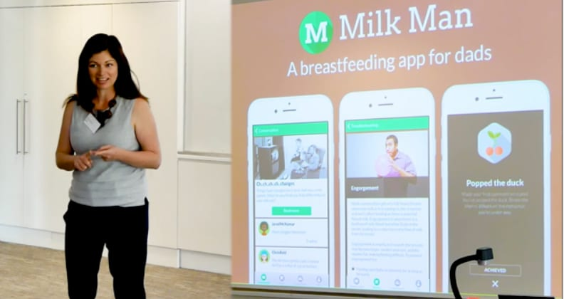 Becky White discusses the Milk Man app.