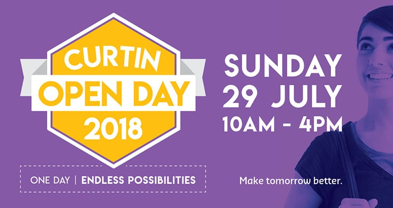 Curtin Open Day 2018 graphic