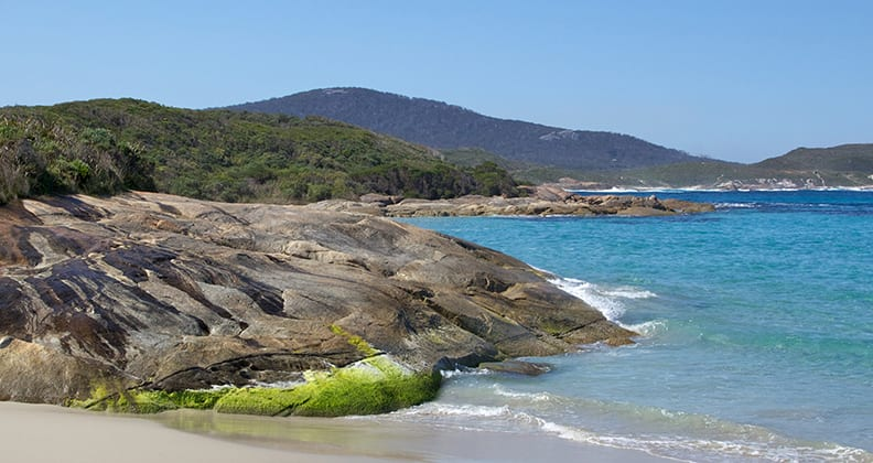 The beach at Madfish Bay in William Bay National Park, near the town of Denmark, Western Australia