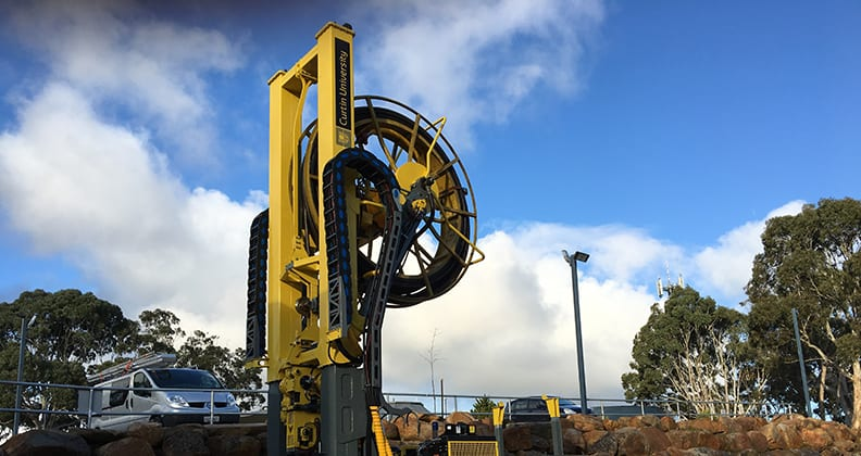 RoXplorer® Coiled Tubing Drill Rig with the Curtin logo