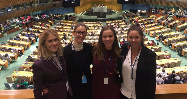 students at UN